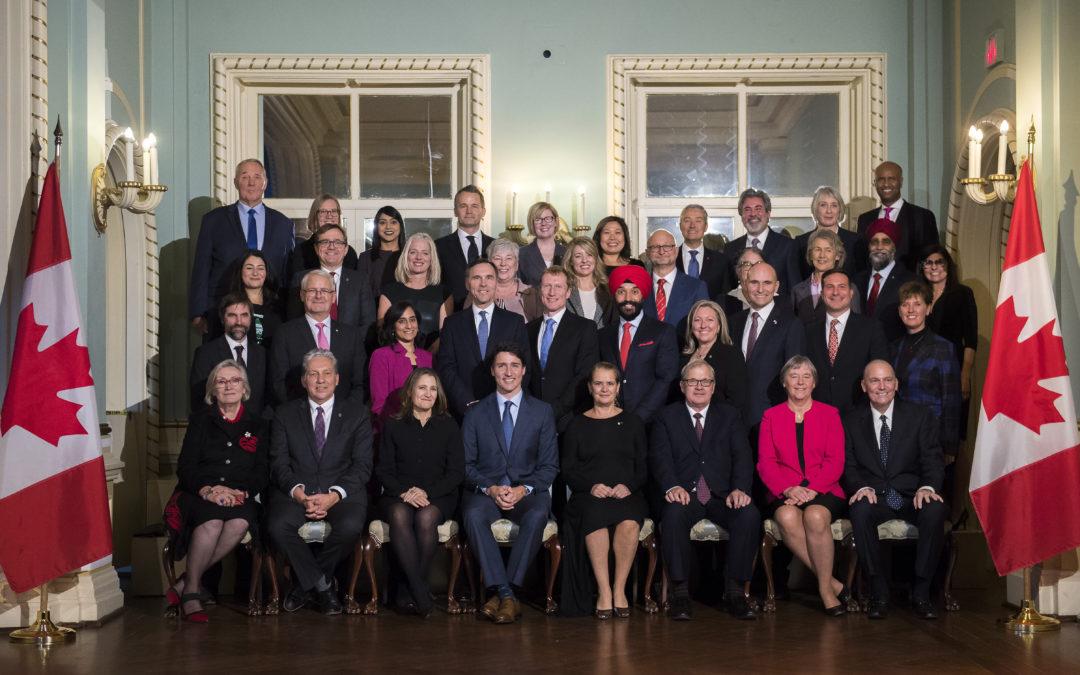 Trudeau Reveals Minority Cabinet