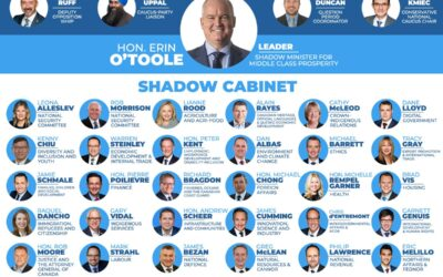 Conservative Leader Erin O'Toole Announces Shadow Cabinet