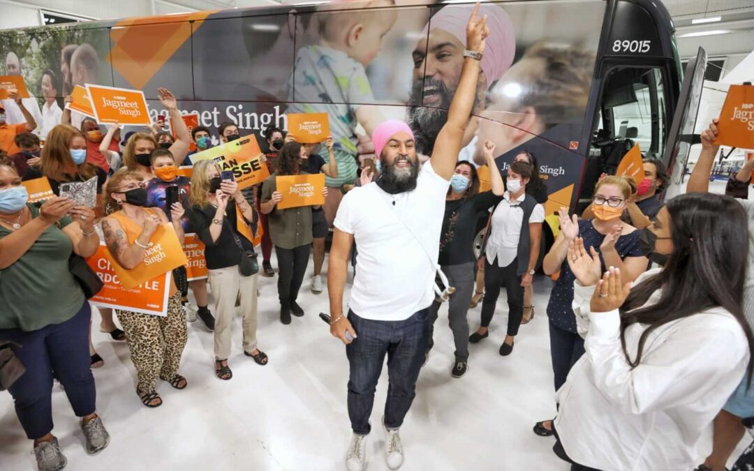 """Singh's Closing Argument to Voters: """"Send a Message to Trudeau, not a Blank Cheque"""""""